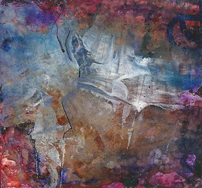 """Original Contemporary Abstract Alcohol Ink Painting """"MOMENTOUS DECISION"""" by Contemporary New Orleans Artist Lou Jordan"""