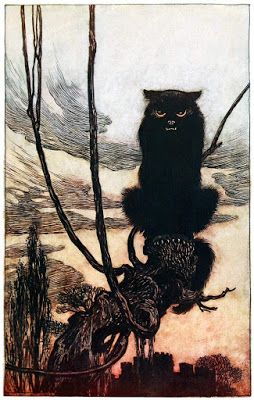 Arthur Rackham, By day she made herself into a cat
