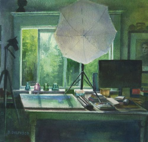 Watercolor: Artist's Studio and Art Supply Storage