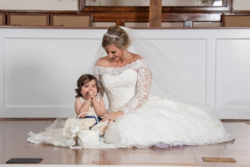 Photos of a 3-Year-Old Cancer Survivor Serving in Her Donor's Wedding