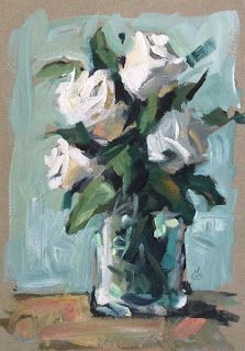 FLORAL STUDY, $1 AUCTION by TOM BROWN