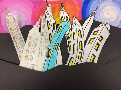 Drawing a Dr. Seuss Inspired City Scape
