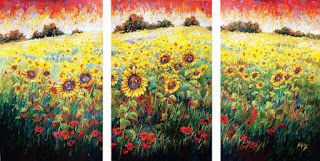 """Field of Dreams"" Palette Knife Oil Painting by Contemporary Impressionist Niki Gulley"