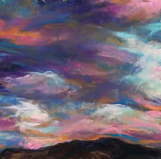 PINKS + PURPLES - pastel Southwest Landscape by Susan Roden