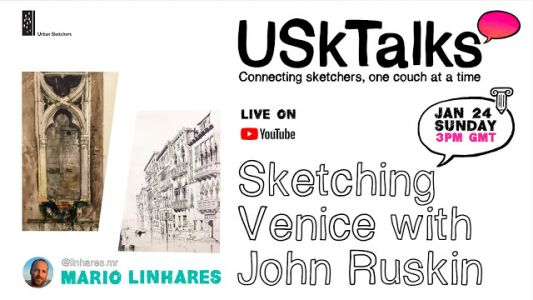 Next USK Talks: Sketching Venice with John Ruskin