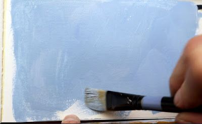 Priming for a Gouache Painting