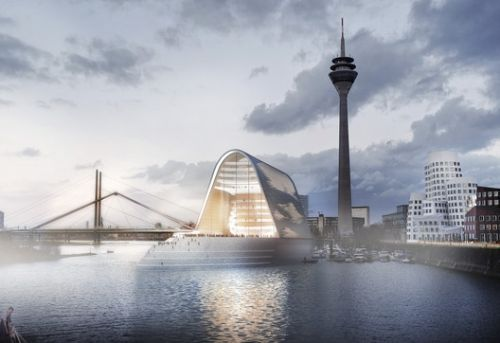 RKW Architektur + Designs Light-Flooded Opera House on the Rhine River in Dusseldorf