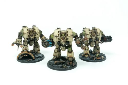 Showcase: Death Guard Leviathan Dreadnoughts by Silvernome