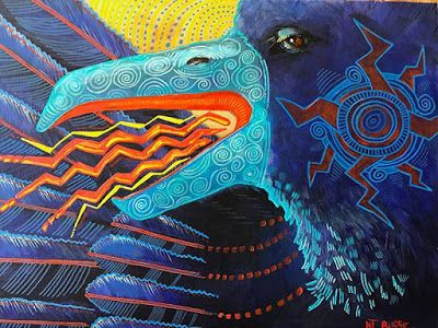 "Contemporary Wildlife, Bird Fine Art Painting,Raven ""Violet Finds Her Voice"" by Painter of the American West Nancee Jean Busse"