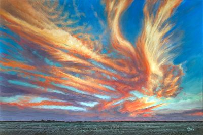 Large Original Cloudscapes from Rebecca Zook Now Available