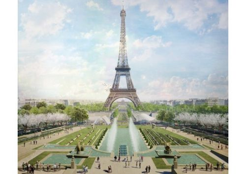 Gustafson Porter + Bowman Wins Competition to Redesign Eiffel Tower Site