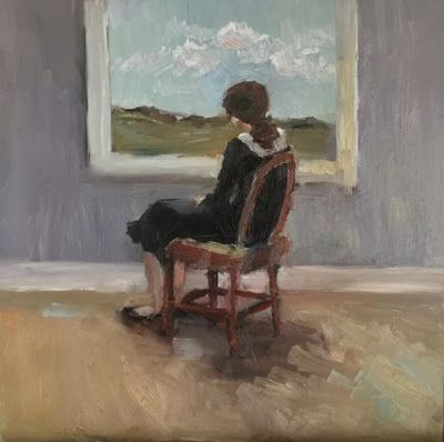 The Window - figurative oil painting