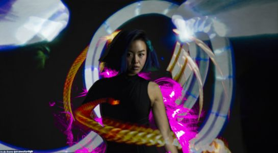 Co-Creating a Light Painting in Real Time with Someone Across the World