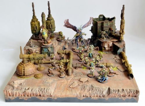 "Showcase: Armies on Parade 2017 Display Board ""The Plague Station"""