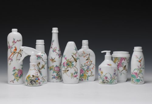 Hand-Painted Ceramics of Everyday Objects Inspired by Classical Chinese Paintings