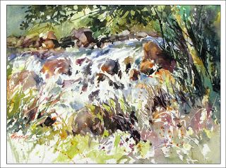 A Discovered Treasure..Watercolor..Texas Artist..Rae Andrews