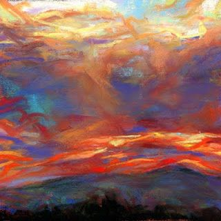 SOLD! - 2 pastel landscapes by Susan Roden