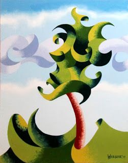 Mark Webster - Abstract Geometric Landscape Oil Painting 9.9.14
