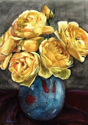 Floral Watercolor Painting - Finding Inspiration in Small Still Life Arrangements