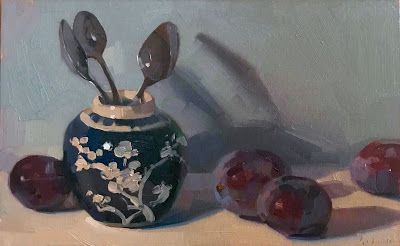 Three Spoons and Plums