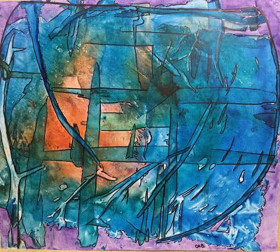 """Abstract Painting, Contemporary Art, Expressionism """"Fresh"""" By Arizona Artist Cynthia A. Berg"""