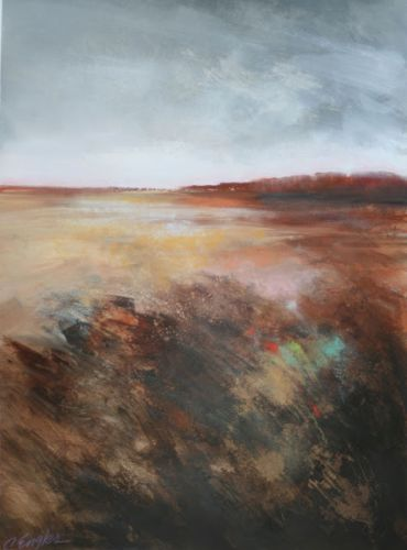 Copper Field, abstract landscape by Carol Engles
