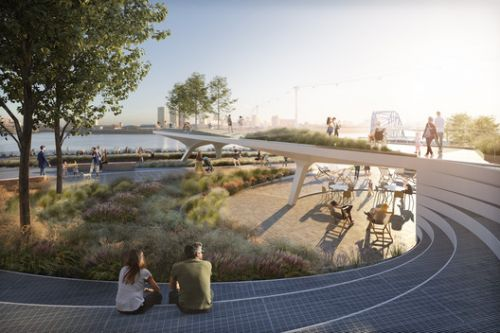 Diller Scofidio + Renfro Unveils Design for The Tide Linear Park in London