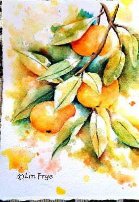 Journal - Persimmons - Splash and Splatter - Lin Frye, NC