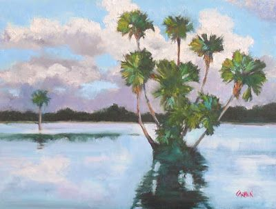 Oil Painting, St. Johns River, 9x12 Original Oil Painting on Canvas Panel