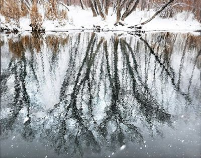 "Nature Fine Art Photography,""Spring Snow Reflections"" by Colorado Photographer Kit Hedman, Boarding House Studio Galleries, Denver"