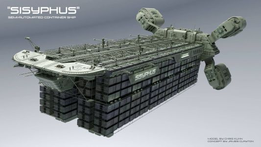 Sisyphus Semi-Automated container ship by Chris Kuhn