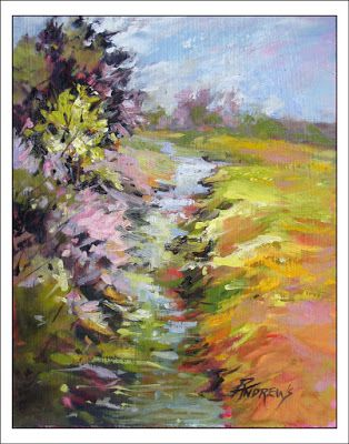 A Gentle Sway to the Left..Oil..Texas Artist..Rae Andrews
