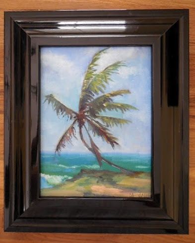 Coastal Wall Decor, Beach House Painting, Florida Landscape, Daily Painting, Small Oil Painting, 6x8