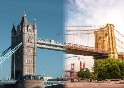 Side-by-Side Photos That Blend Scenes from Around the World