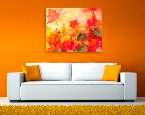 Fall Interior Decor Watercolor Leaves