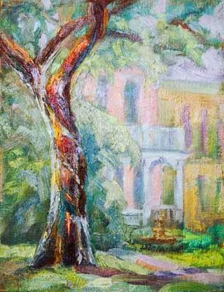 New Orleans Garden District Painting by Texas Artist Niki Gulley