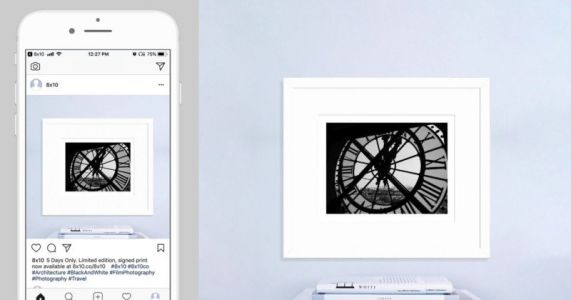 8×10 Helps You Sell Framed Limited-Edition Fine-Art Prints on Instagram