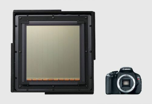 This is What Canon's Largest CMOS Sensor Looks Like Next to a DSLR