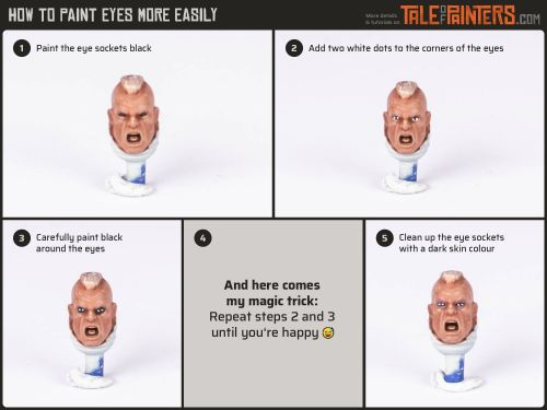 Tutorial: How to paint eyes on your miniatures more easily