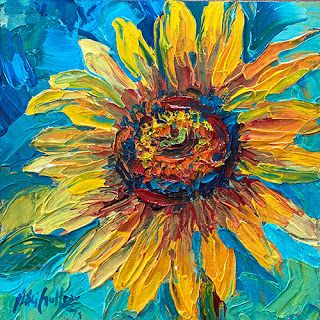 """""""Let the Sun Shine In"""" Textured Painting by Niki Gulley"""