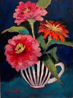 1075 In love With Zinnias