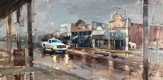 """A Rainy Day in San Angelo"" -- Sold"