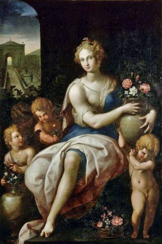 Celebrating The Earth's Beauty - 16C Goddess Flora, Goddess of Flowers
