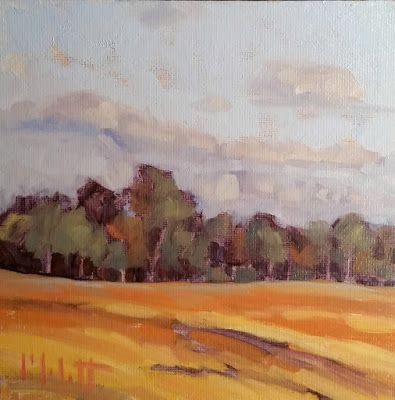 Autumn Landscape Warm Color Oil Painting
