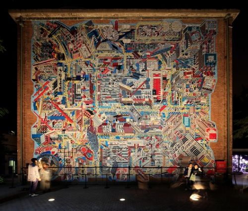 798 Panoramic Mural by Drawing Architecture Studio