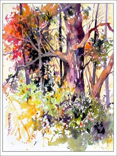 Dappled Glow..Watercolor..Texas Artist Rae Andrews