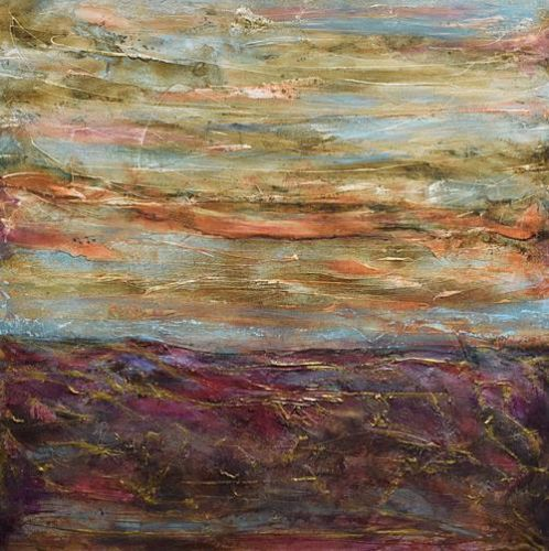 """Contemporary Landscape Painting, Abstract Landscape Art """"Other Spaces"""" by Santa Fe Contemporary Artist Sandra Duran Wilson"""