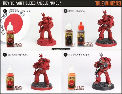 Tutorial: How to paint Blood Angels Armour