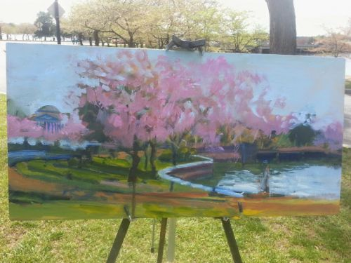 Cherry blossoms by tidal basin -Process 41815 by Candy Barr