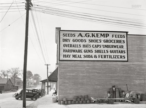 Guns Guitars Groceries: 1939
